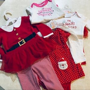 Christmas Outfit Grouping for Infant Girls NWT
